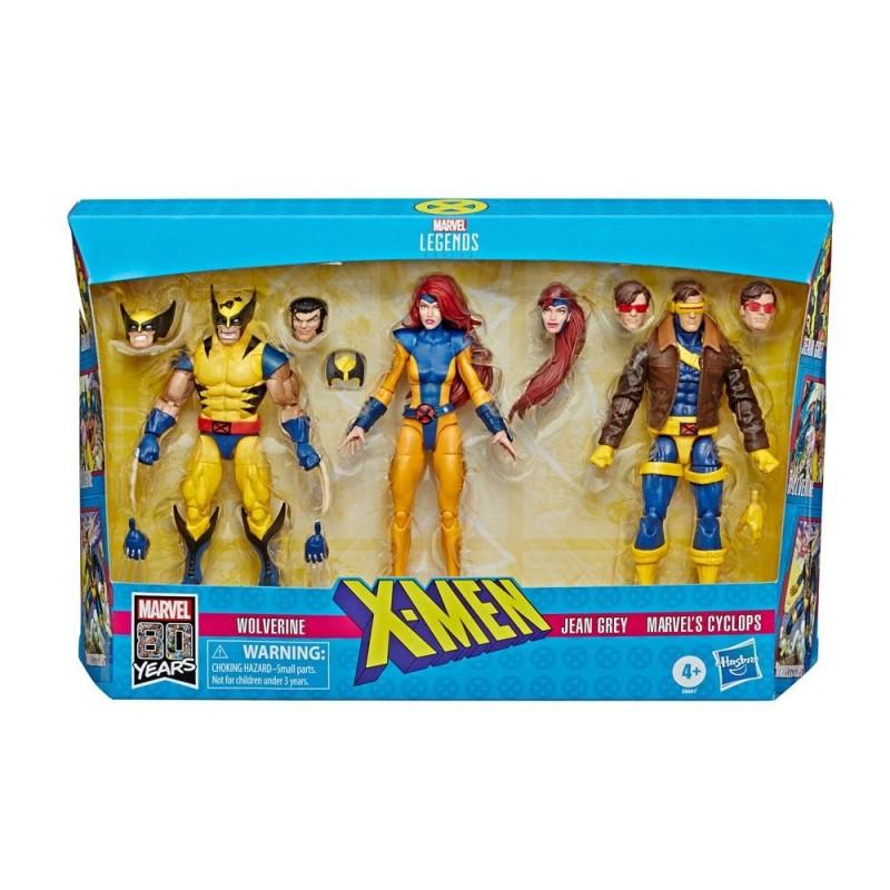 Marvel Legends 80th Anniversary pack 3 figurines X-Men Wolverine, Jean Grey & Cyclops 15 cm Hasbro Tout L'univers Marvel