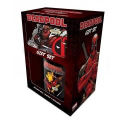 Deadpool coffret cadeau Mug + Porte Clés + Sous Verre