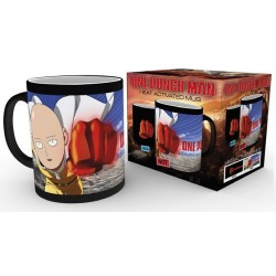 One Punch Man mug effet thermique Saitama