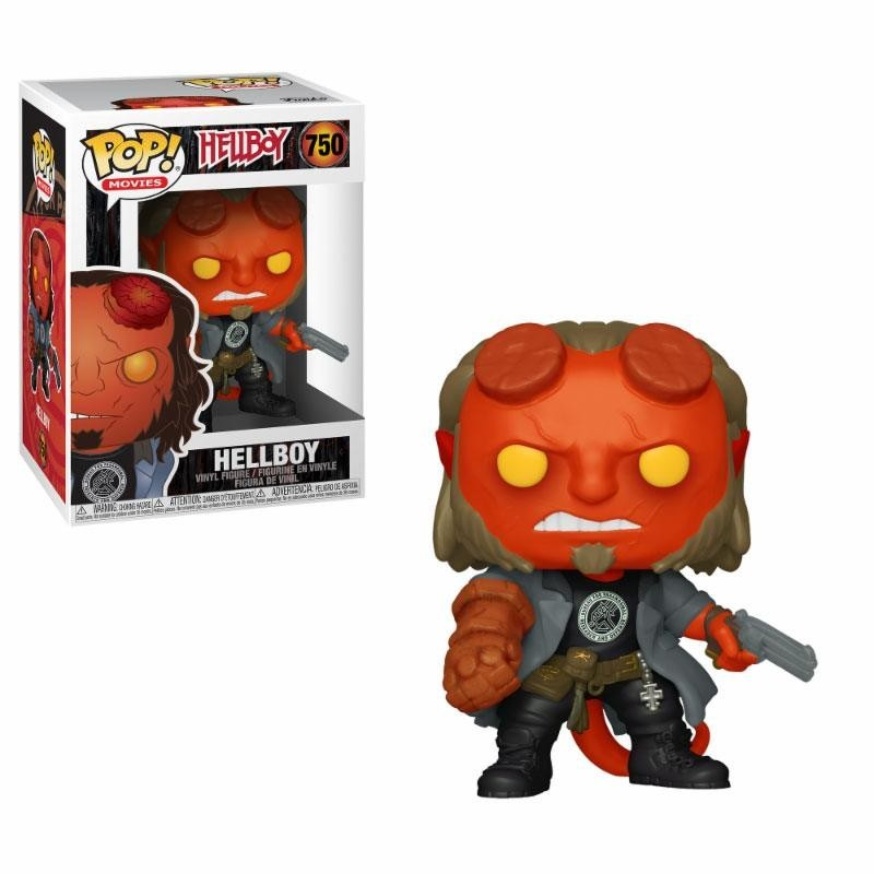 Hellboy Figurine POP! Movies Vinyl Hellboy with BPRD Tee 9 cm