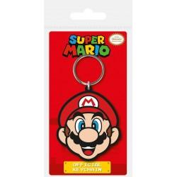 Super Mario porte-clés caoutchouc Mario 6 cm