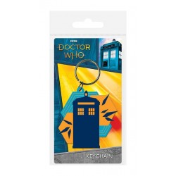 Doctor Who porte-clés caoutchouc Tardis Shapes 6 cm