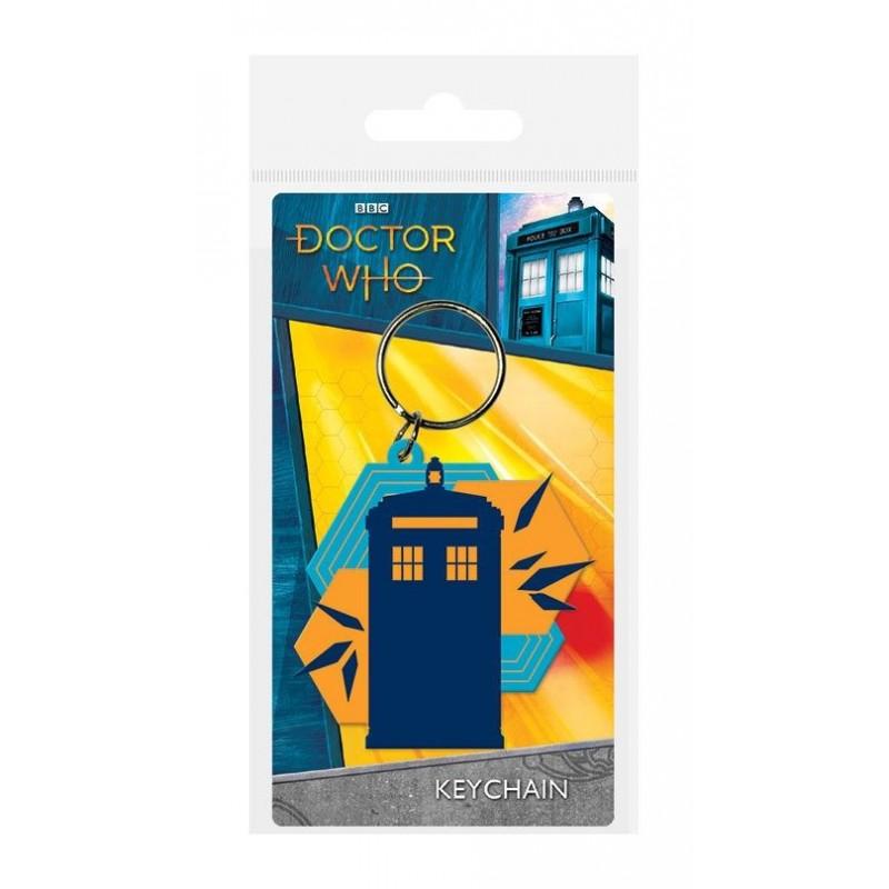 Doctor Who porte-clés caoutchouc Tardis Shapes 6 cm