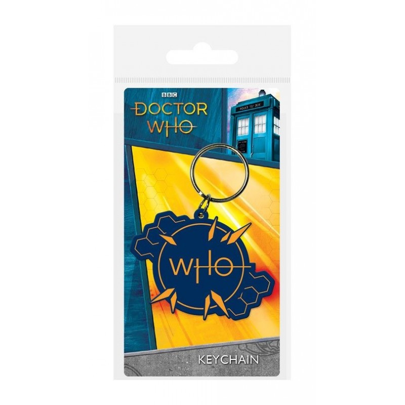 Doctor Who porte-clés caoutchouc Insignia 6 cm