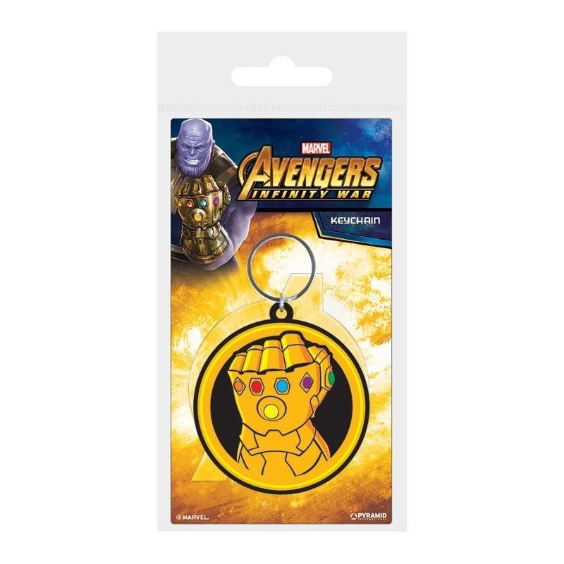 Avengers Infinity War porte-clés caoutchouc Infinity Gauntlet 6 cm