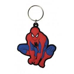 Spider-Man porte-clés caoutchouc Crouch 6 cm