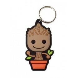 Les Gardiens de la Galaxie porte-clés caoutchouc Baby Groot 6 cm