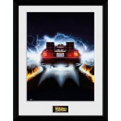Retour vers le futur poster encadré DeLorean 45 x 34 cm