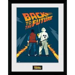 Retour vers le futur poster encadré Doc & Marty 45 x 34 cm