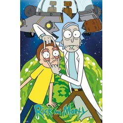 Rick et Morty Ship 61 x 91 cm