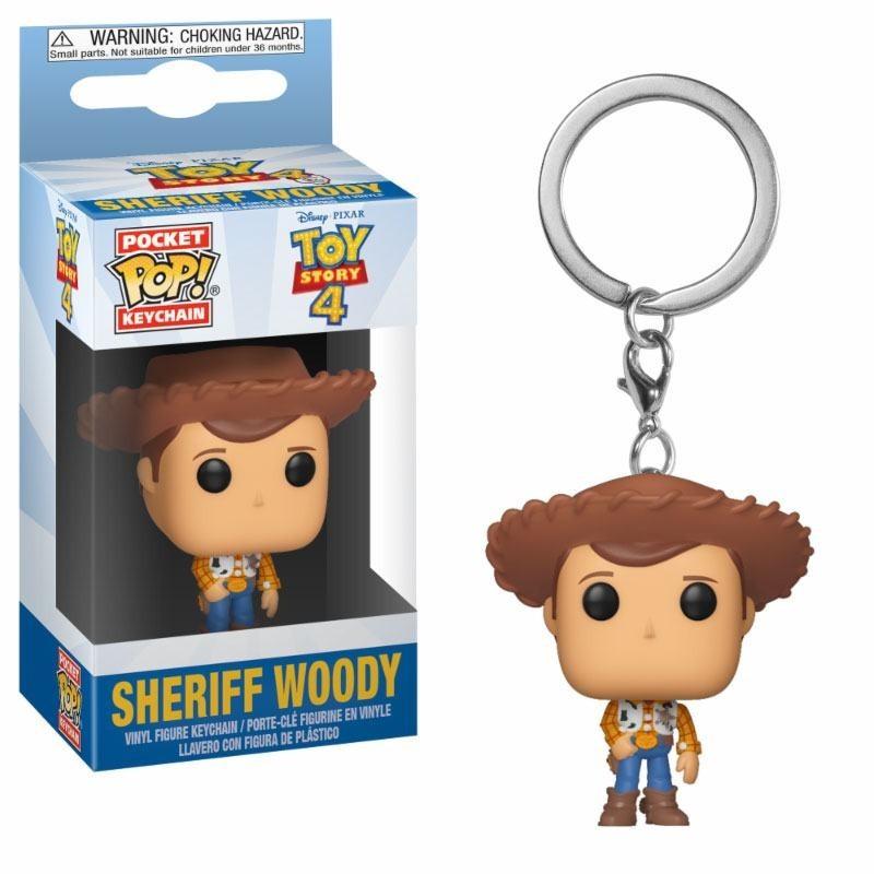 Toy Story 4 porte-clés Pocket POP! Vinyl Woody 4 cm