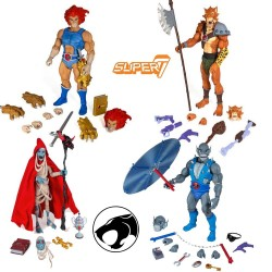 Thundercats Set de 4 Figurines Ultimates  Mumm-ra - Jackalman - Lion-o & Panthro