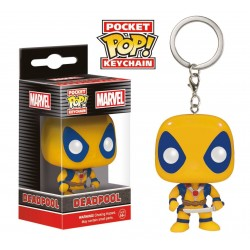 Marvel Comics porte-clés Pocket POP! Vinyl Yellow Deadpool 4 cm