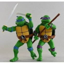 Les Tortues ninja pack 2 figurines Leonardo & Donatello 18 cm