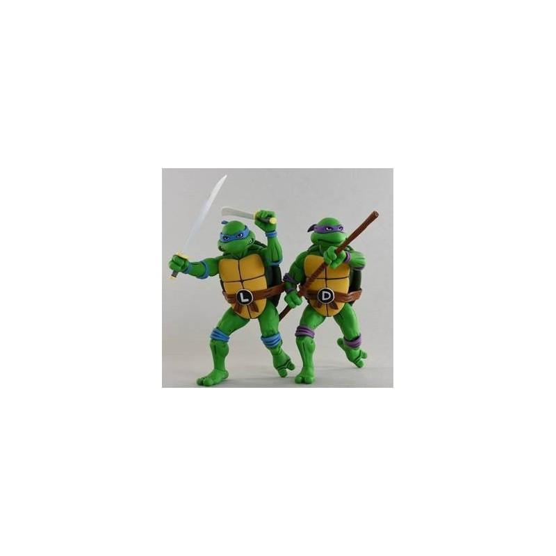 Les Tortues ninja pack 2 figurines Leonardo & Donatello 18 cm