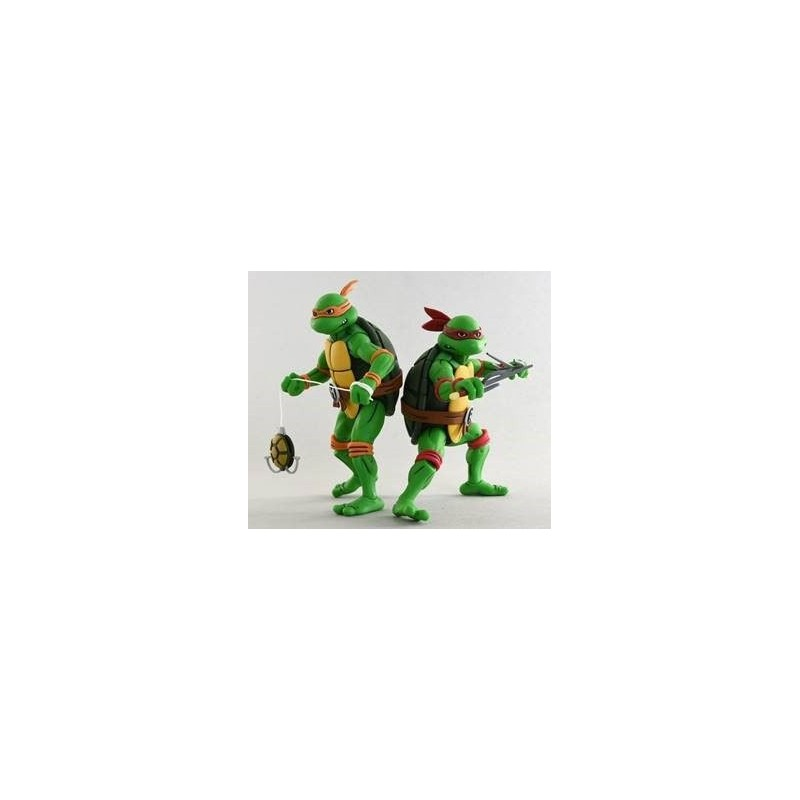 Les Tortues ninja pack 2 figurines Michelangelo & Raphael 18 cm