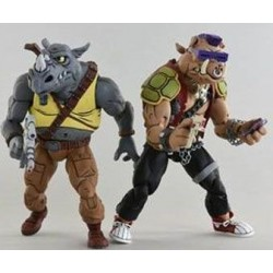 Les Tortues ninja pack 2 figurines Rocksteady & Bebop 18 cm