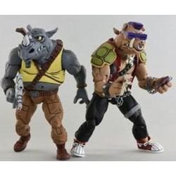Les Tortues ninja pack 2 figurines Rocksteady & Bebop 18 cm