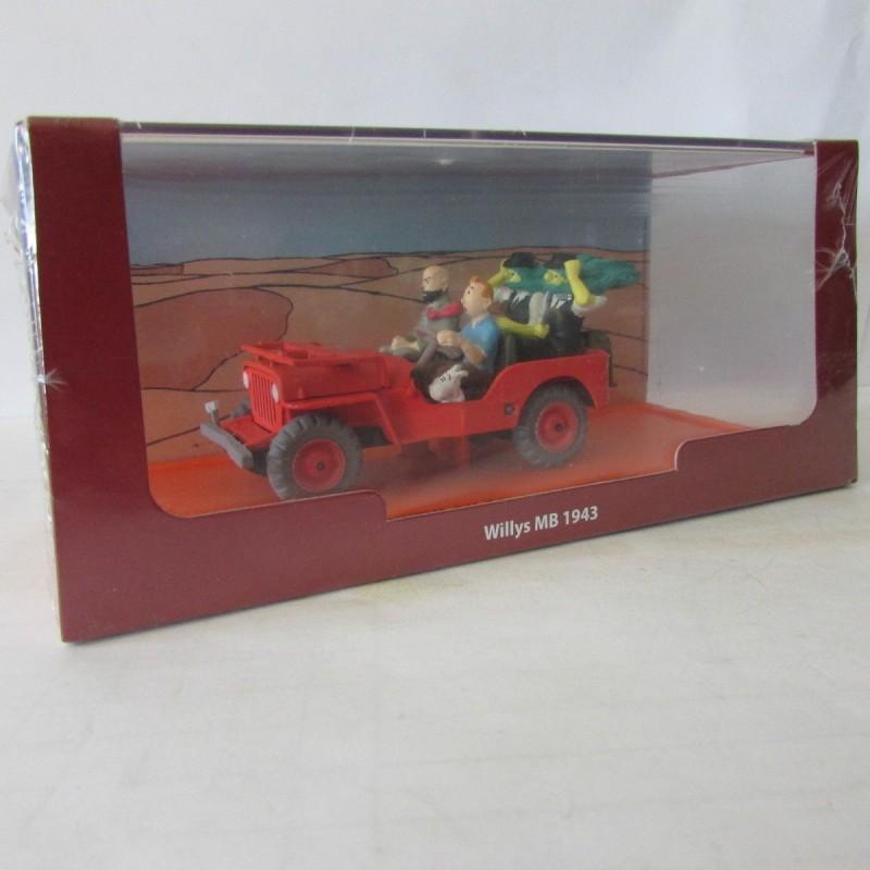 Voiture Miniature Tintin 1/43 Willys MB 1943