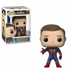 Avengers Infinity War POP! Movies Vinyl figurine Iron Spider Unmasked BoxLunch Exclusive 9 cm
