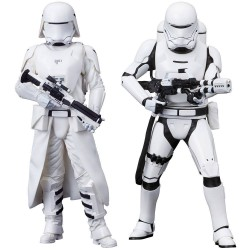 Star Wars Episode VII pack 2 statuettes PVC ARTFX+ First Order Snowtrooper & Flametrooper 18 cm