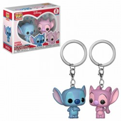 Lilo & Stitch pack 2 porte-clés Pocket POP! Vinyl Stitch & Angel 4 cm Funko Funko Disney