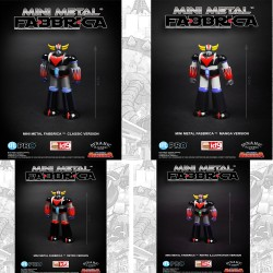 Set de 4 Figurines Goldorak 12cm Mini Metal Fabbrica