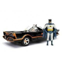 Batman 1/24 1966 Classic TV Series Batmobile métal avec figurine