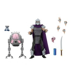 Les Tortues ninja pack 2 figurines Shredder vs Krang in Bubble Walker 18 cm
