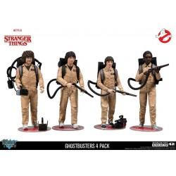 Stranger Things pack 4 figurines Ghostbusters 15 cm