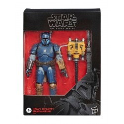 Star Wars The Mandalorian Black Series figurine Deluxe Heavy Infantry Mandalorian Exclusive 15 cm Hasbro Accueil