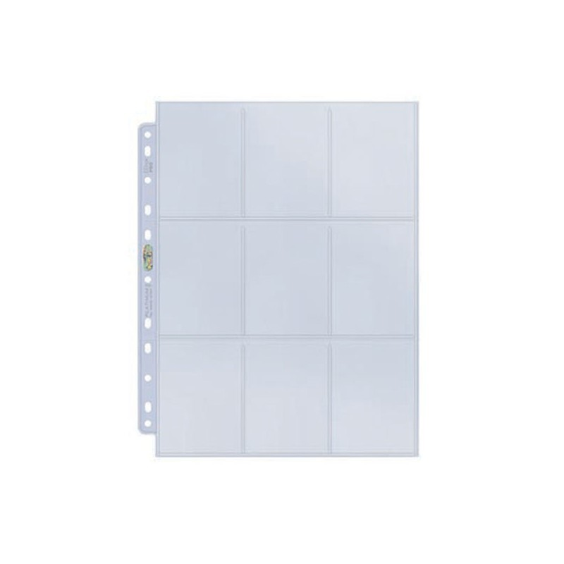 FEUILLES CLASSEUR - Ultra Pro Display 9-Pocket Platinum (100ct) x1