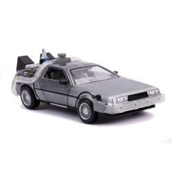 Retour vers le Futur II DeLorean Time Machine 1/24 métal Hollywood Rides