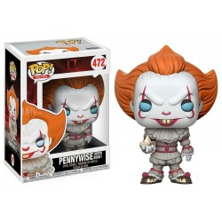 IT - Figurine  Funko Pop Pennywise With Boat  472