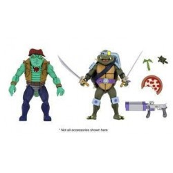 Les Tortues ninja pack 2 figurines Leather Head & Slash 18 cm Neca Pré-commandes