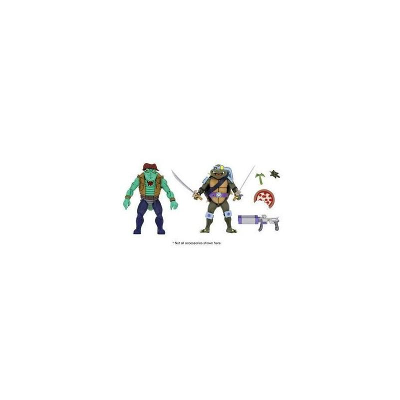 Les Tortues ninja pack 2 figurines Leather Head & Slash 18 cm Neca Pré-commandes