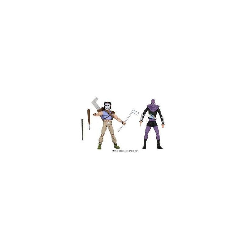 Les Tortues ninja pack 2 figurines Casey Jones & Foot Soldier 18 cm Neca Pré-commandes