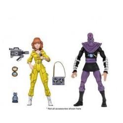 Les Tortues ninja pack 2 figurines April O'Neil & Foot Soldier 18 cm Neca Pré-commandes
