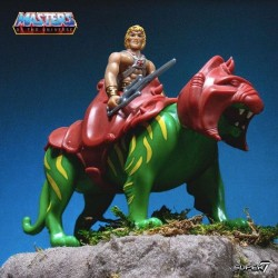 Masters of the Universe pack 2 figurines ReAction He-Man & Battlecat 10 cm Super7 Pré-commandes
