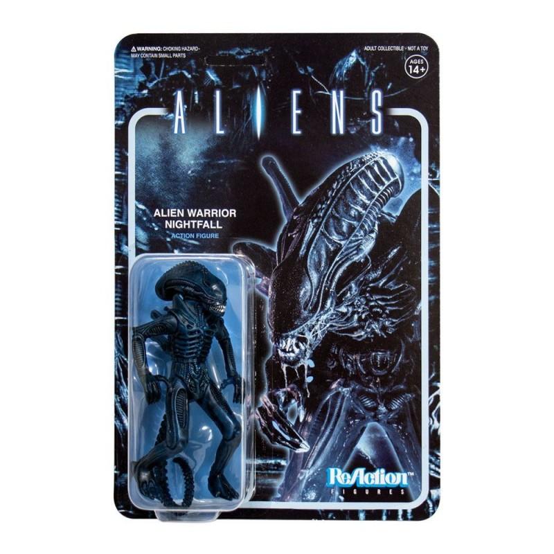 Aliens Wave 1 figurine ReAction Alien Warrior Nightfall Blue 10 cm