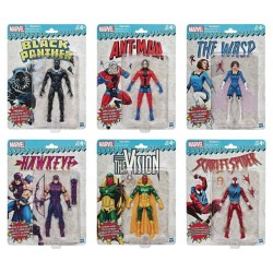 Marvel Legends Retro 15 cm Set de 6 Figurine - Vision - Ant-Man -  Black Panther ...