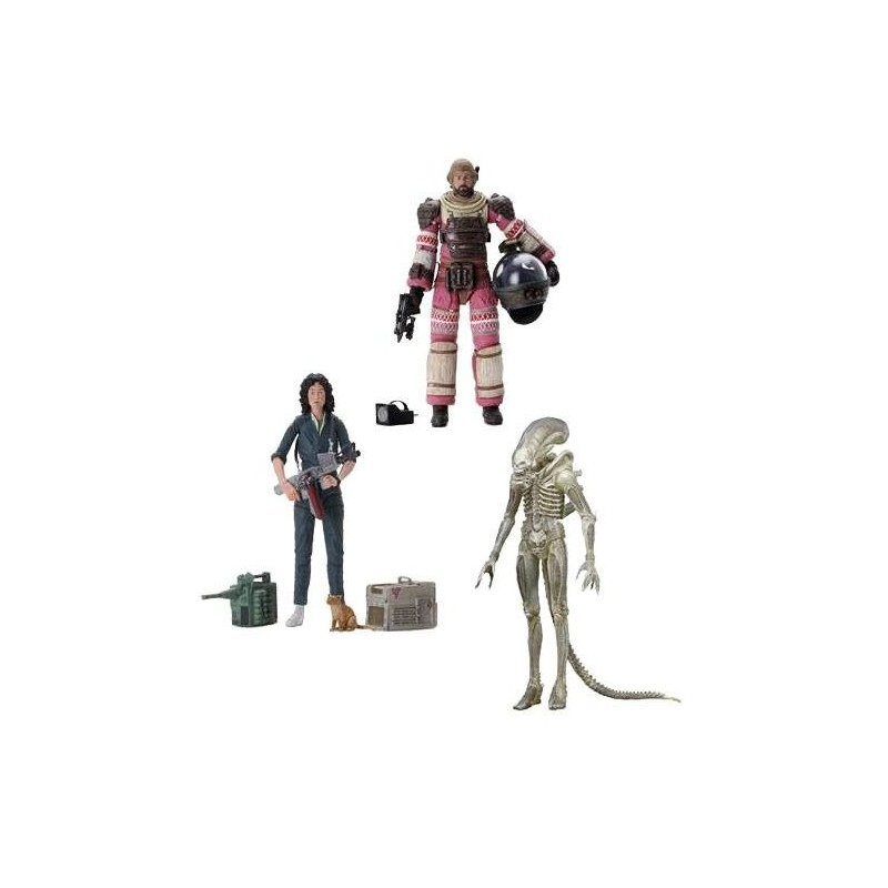 Alien assortiment figurines 18 cm 40th Anniversary  Set de 3 Figurines