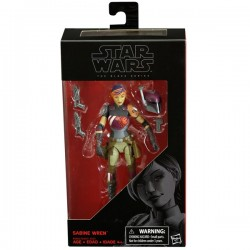 "Figurine Star Wars Black Series 6"" 15cm Sabine Wren Takara Tomy Hasbro Toute la gamme Black Series"