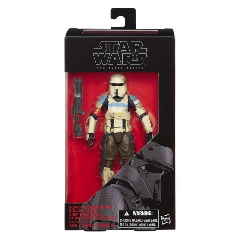 "Figurine Star Wars Black Series 6"" 15cm Scarif Stormtrooper Squad Leader Takara Tomy Hasbro Toute la gamme Black Series"