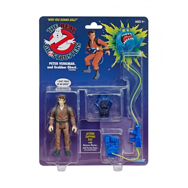 Ghostbusters Figurine Retro Kenner 13 cm Peter Venkman & Grabber Ghost