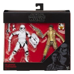 Star Wars Black Series pack figurines 2015 Poe Dameron & Stormtrooper Exclusive 15 cm