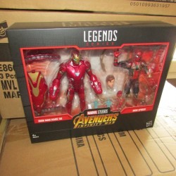 PBA - Figurine Marvel Legends Pack Spider-man et Ironman Hasbro Boites Abîmées en Promos