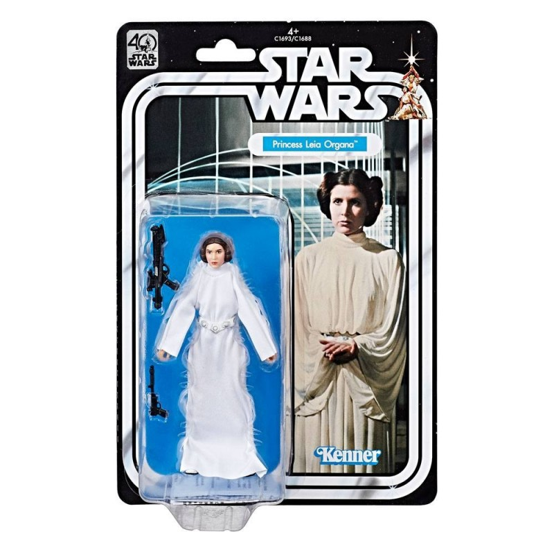Star Wars Black Series figurine Leia Organa 40th Anniversary 15 cm Hasbro Toute la gamme Vintage Collection
