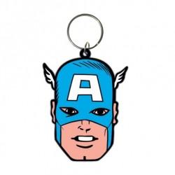 Captain America porte-clés caoutchouc Face 6 cm