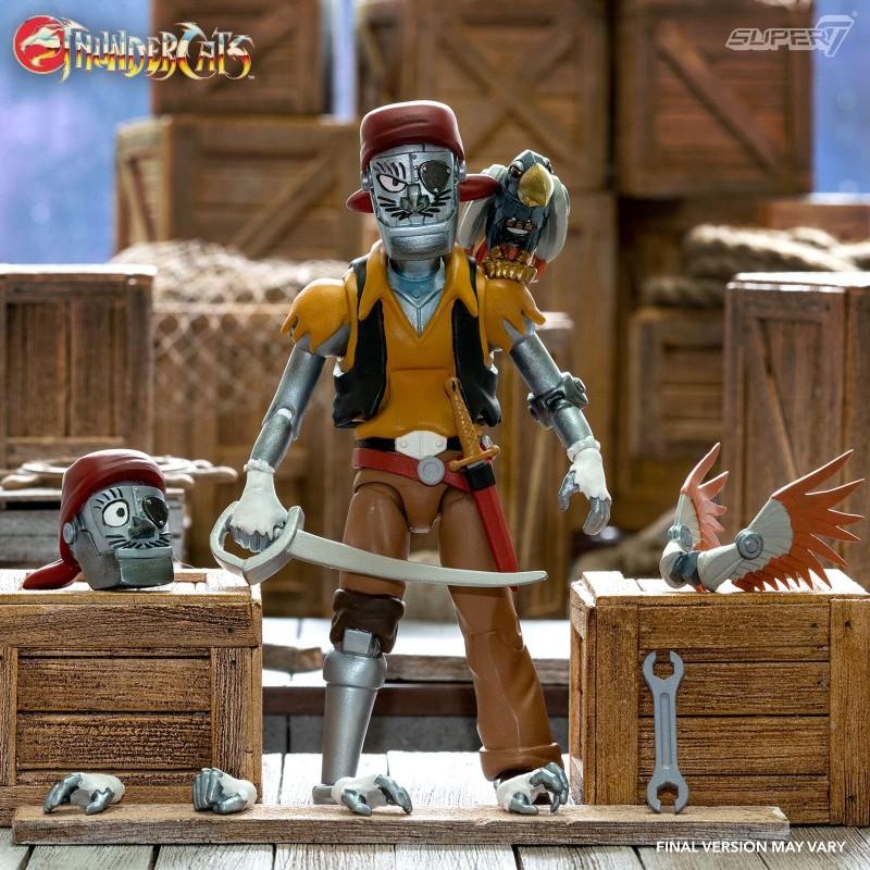 Thundercats Wave 3 figurine Ultimates Captain Cracker the Robotic Pirate Scoundrel 18 cm